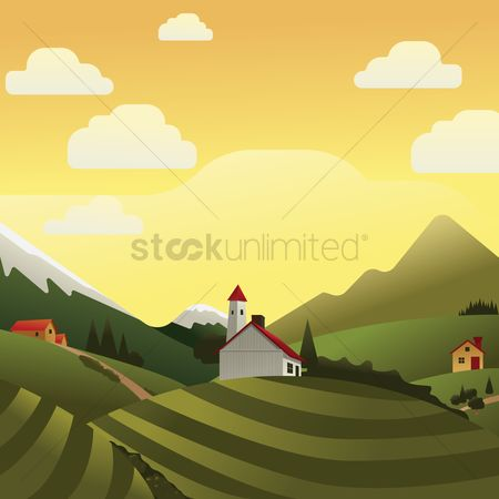 Agriculture : Houses at a farm