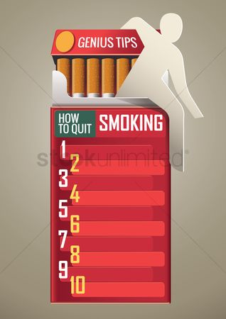 Tips : How to quit smoking poster design