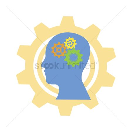 Mechanicals : Human head with gears