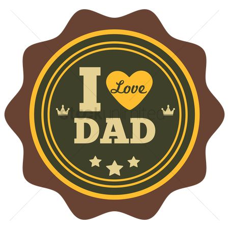 Vintage : I love dad label