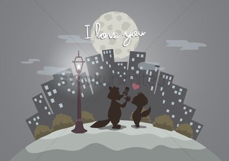 Romance : I love you valentines wish