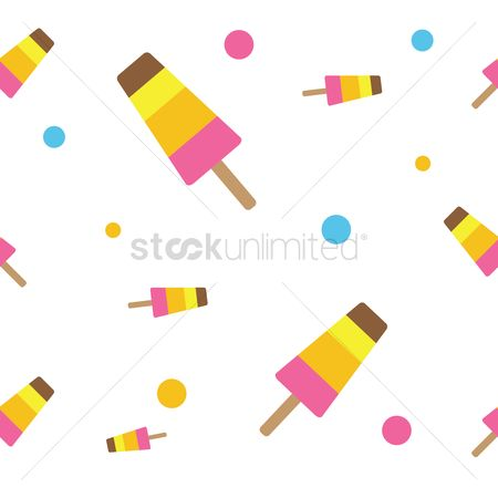 Flavor : Ice cream bar seamless pattern