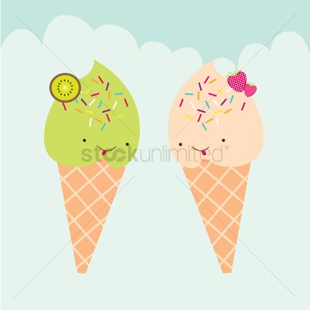 Dairies : Ice cream characters