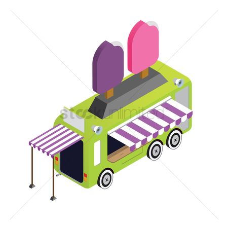 Awning : Ice cream sticks truck