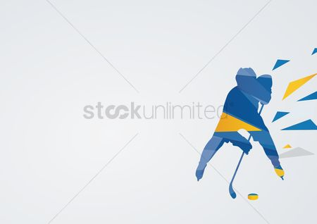 Athletes : Ice hockey in action