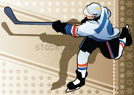 Athletes : Ice hockey player in action
