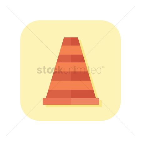Barrier : Icon of a traffic cone