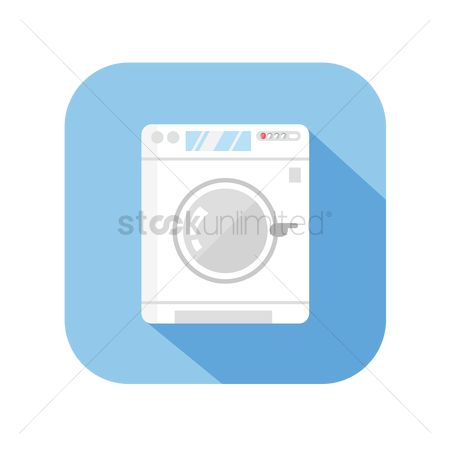 Washing machine : Icon of a washing machine