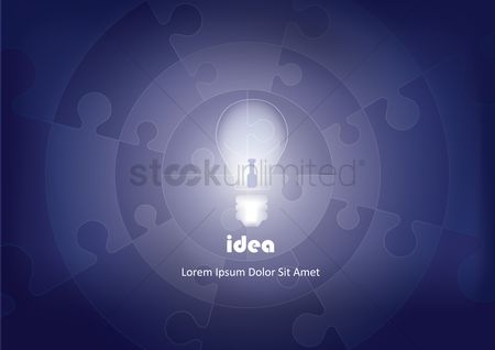 Bulb : Idea abstract background