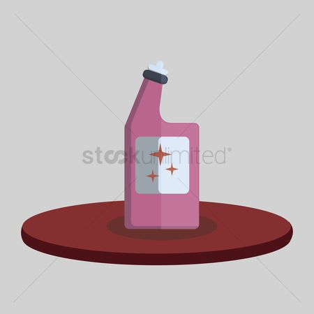 Chores : Illustration of a bottle of detergent