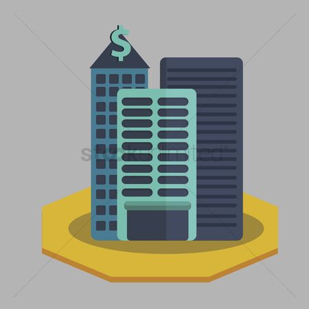 Skyscraper : Illustration of bank