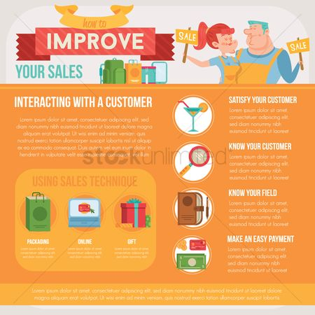 Lady : Improve your sales infographic