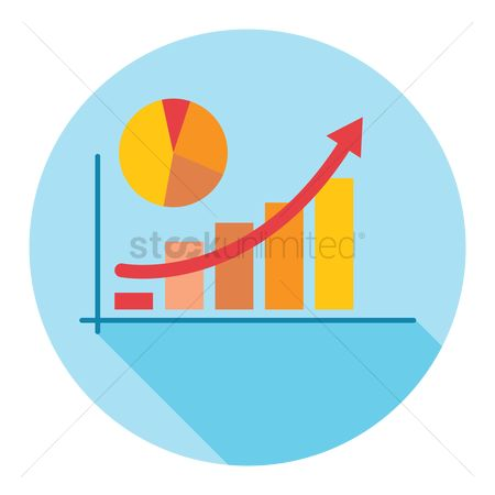 Increase : Increase shown in bar graph and chart