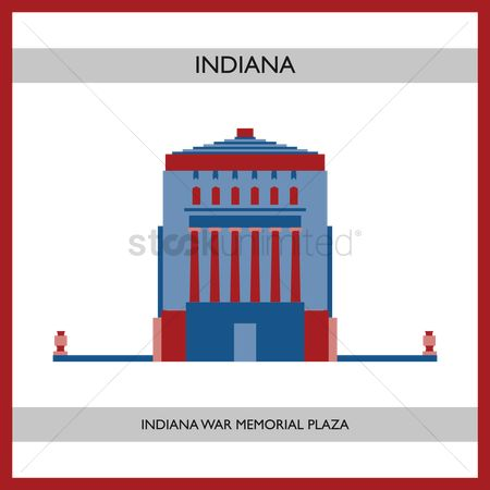 Indiana : Indiana war memorial plaza