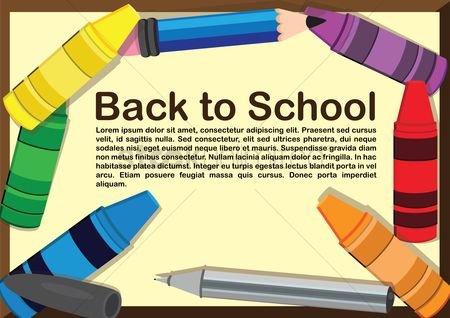 Crayons : Infographic back to school