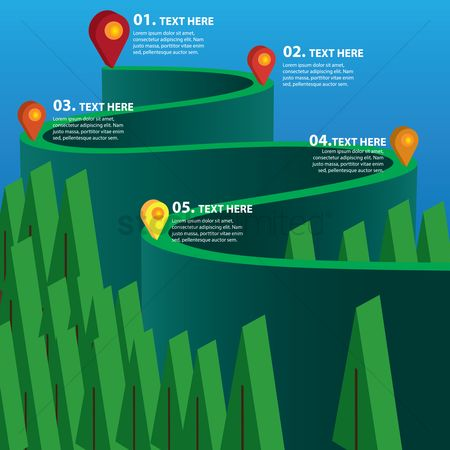 Map pin : Infographic elements