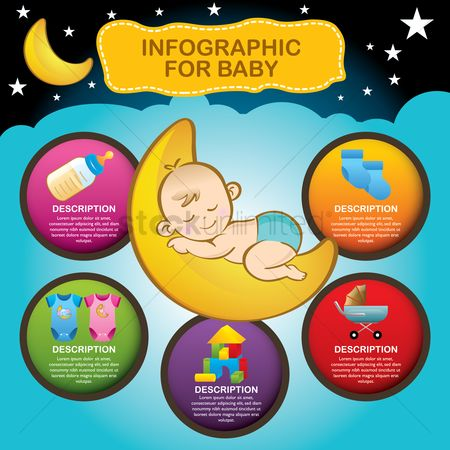 Blocks : Infographic for baby