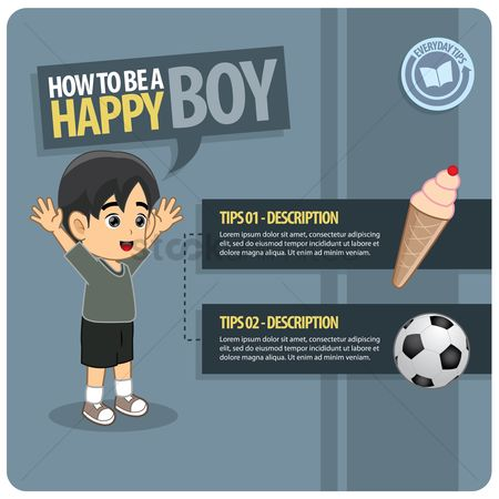 Tips : Infographic of an happy boy
