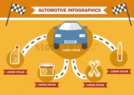Spanner : Infographic of automotive