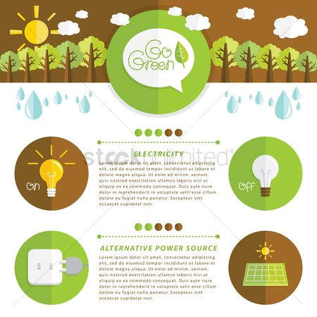 Electricity : Infographic of ecology
