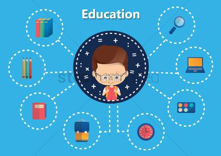 Palette : Infographic of education concept