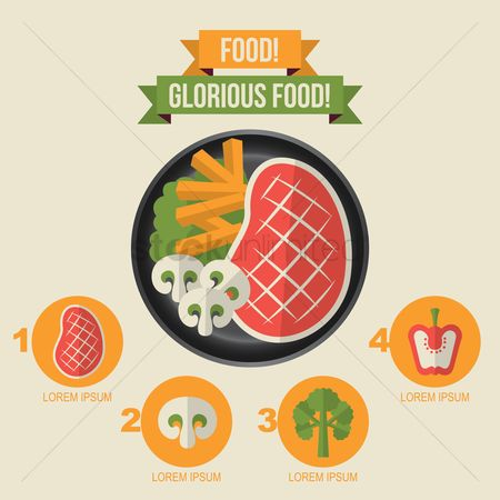 Datum : Infographic of food