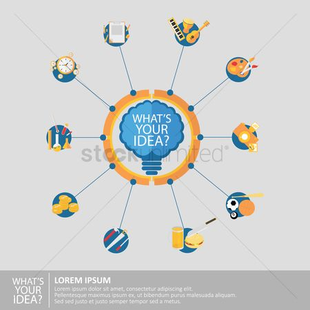 Photography : Infographic of idea concept