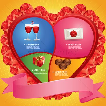Red wines : Infographic of love
