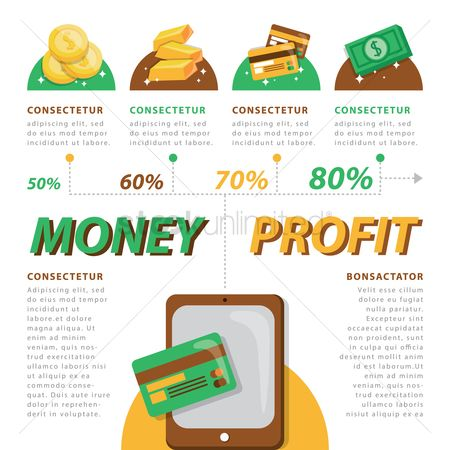 Profits : Infographic of money