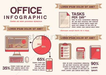 Mobiles : Infographic of office