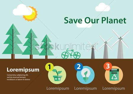 Save trees : Infographic of save planet