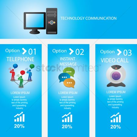 Cpu : Infographic of technology communication