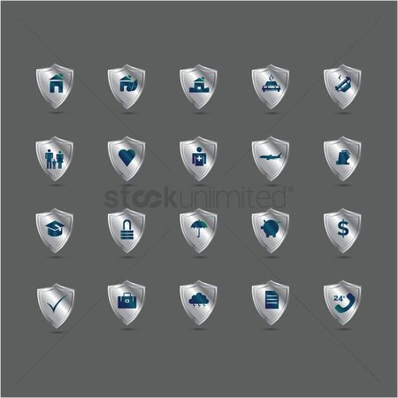 Shield : Insurance icons set