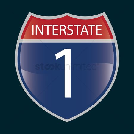 Interstates : Interstate 1 route sign