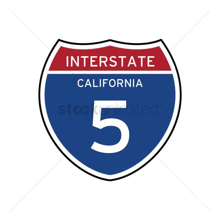 Interstates : Interstate california 5 route sign