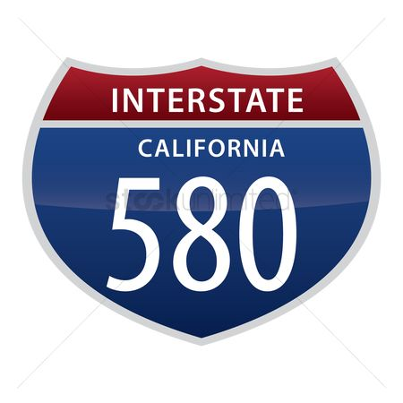 Interstates : Interstate california road sign
