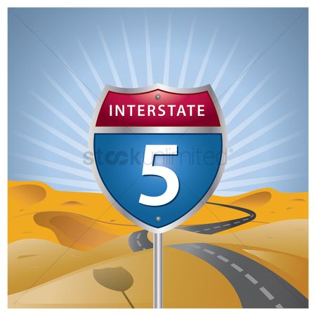 Interstates : Interstate five route sign
