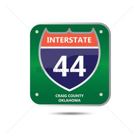 44 : Interstate forty four route sign