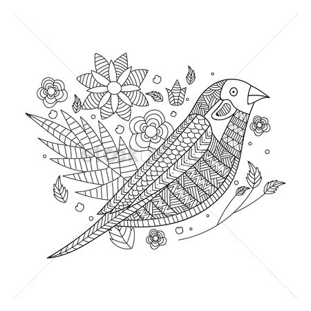 Budding : Intricate bird design