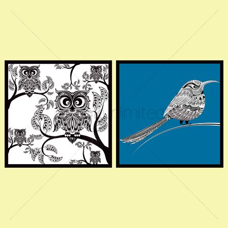 Owl : Intricate birds design