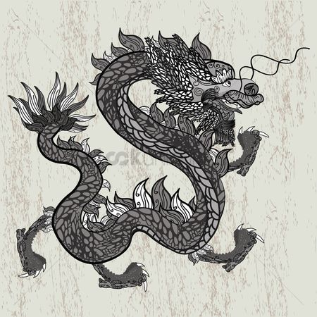 Linear : Intricate dragon design