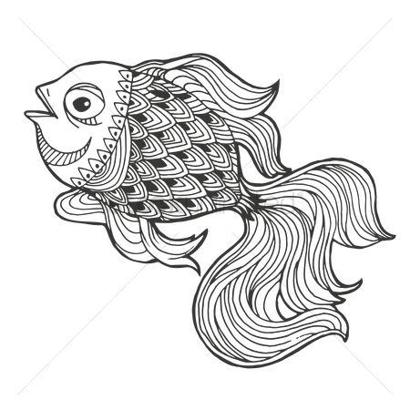Marine life : Intricate fish design