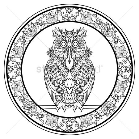 Styles : Intricate owl design