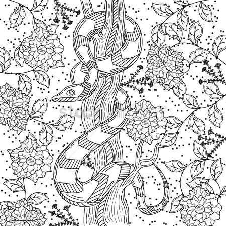 Budding : Intricate snake design