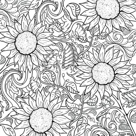 Floral : Intricate sunflower design