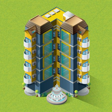 Building : Isometric apartment building