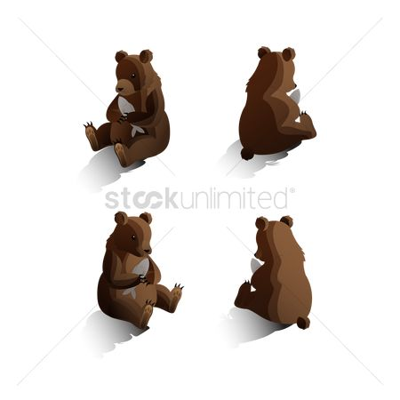 Backview : Isometric bears