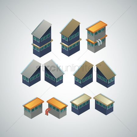 Production : Isometric buildings