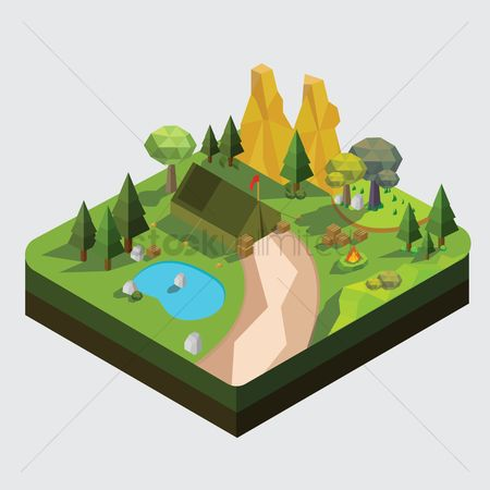 Flag : Isometric camp