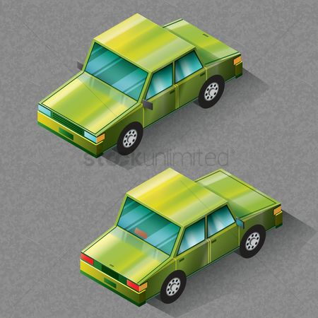 Visualize : Isometric car
